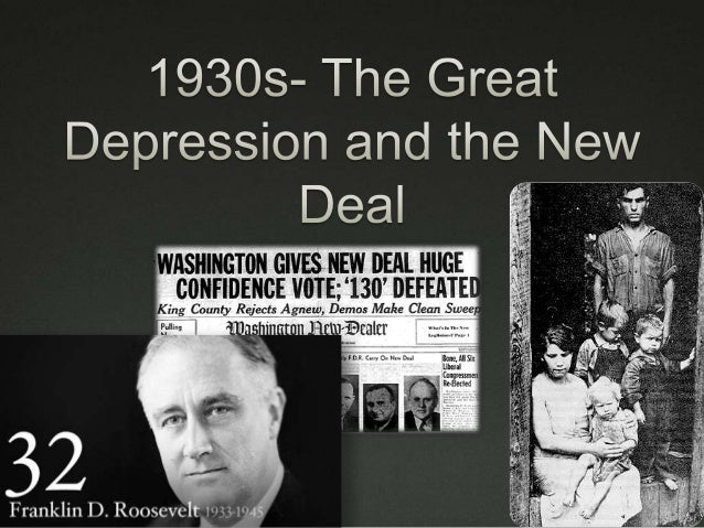 Effect of FDR's New Deal?