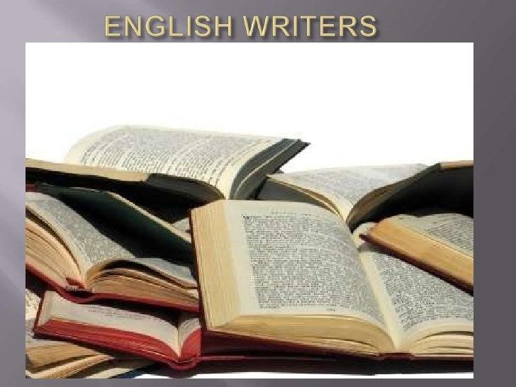 ENGLISH WRITERS<br />