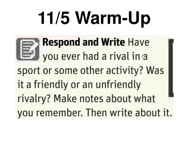 11/5 Warm-Up