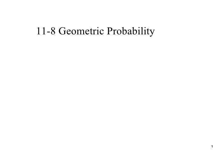 11 8 Geometric Probability