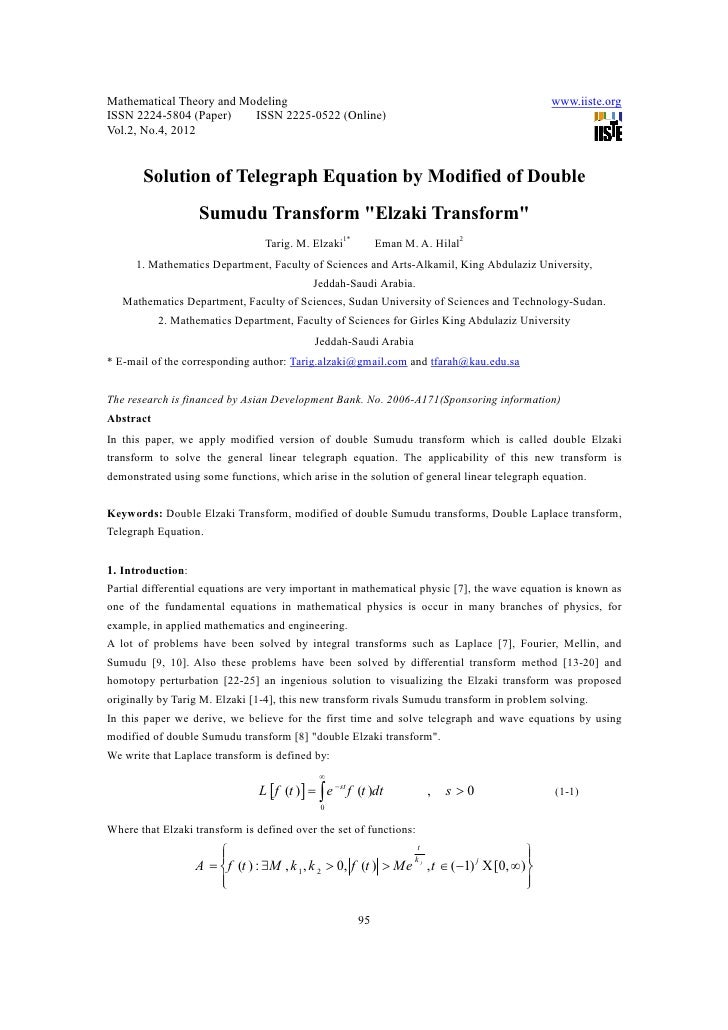 Mathematical Theory and Modeling                                                            www.iiste.orgISSN 2224-5804 (P...