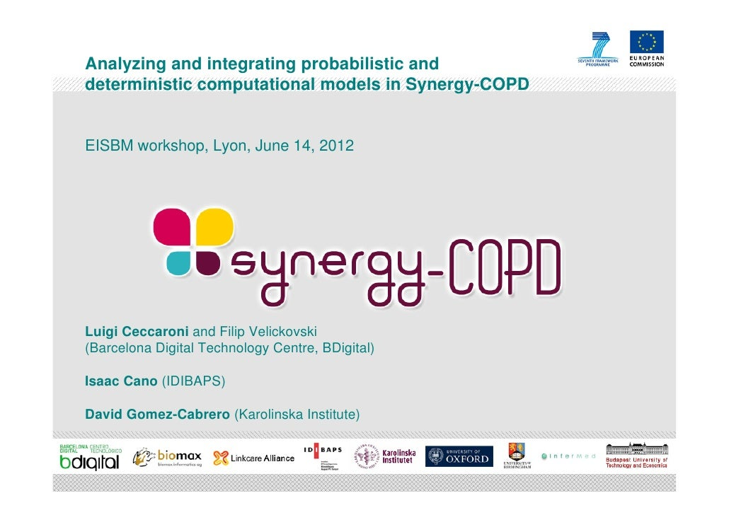 Analyzing and integrating probabilistic anddeterministic computational models in Synergy-COPDEISBM workshop, Lyon, June 14...
