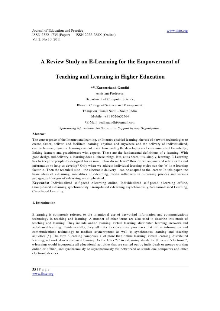 11.a review study on e learning for the empowerment of
