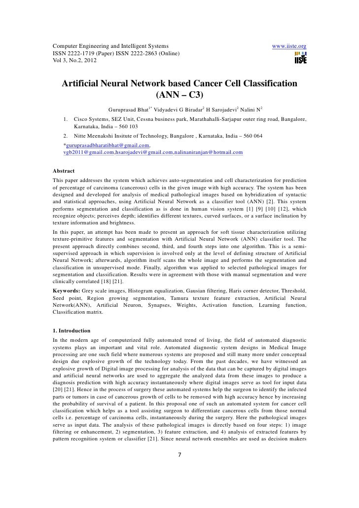 11.artificial neural network based cancer cell classification
