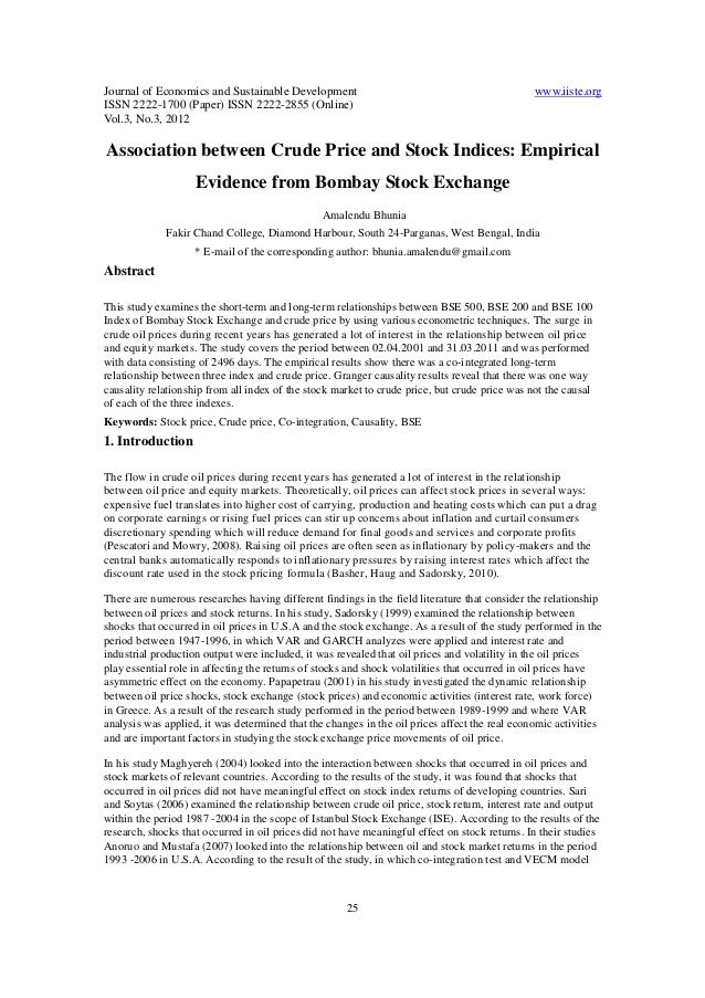 Journal of Economics and Sustainable Development www.iiste.org ISSN 2222-1700 (Paper) ISSN 2222-2855 (Online) Vol.3, No.3,...