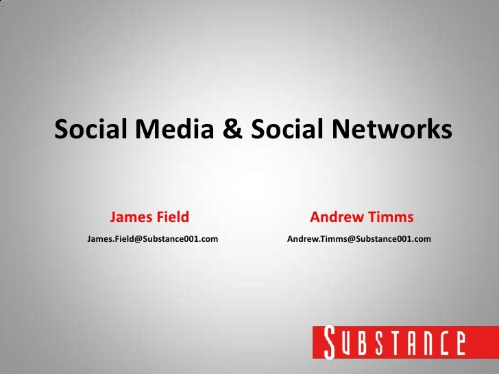 JAMES FIELD & ANDY TIMMS - SUBSTANCE