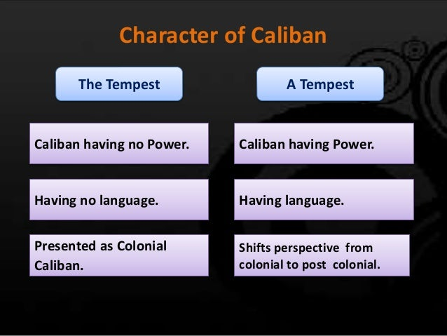 the tempest essays on caliban The play 'the tempest' was written by william shakespeare in the elizabethan times in the play, william shakespeare portrays the character, caliban in a.