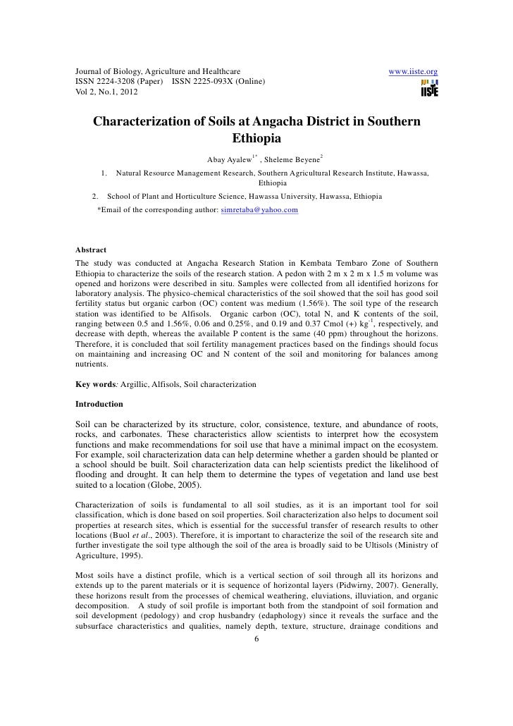 11.characterization of soils at angacha district in southern ethiopia