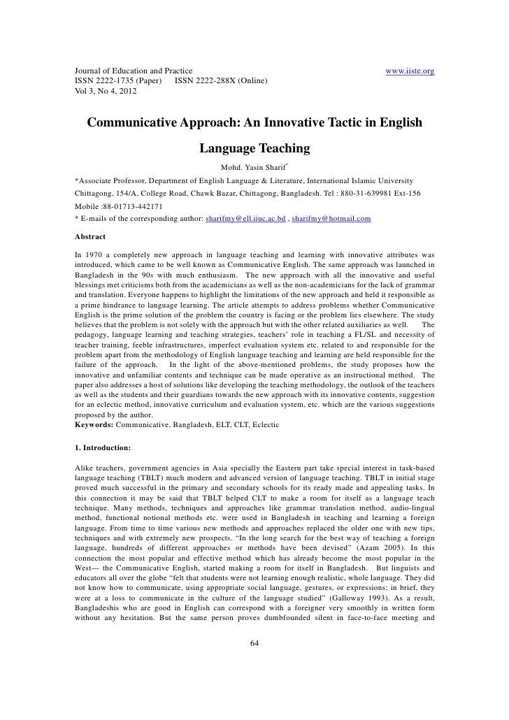 11.communicative approach an innovative tactic in english language teaching