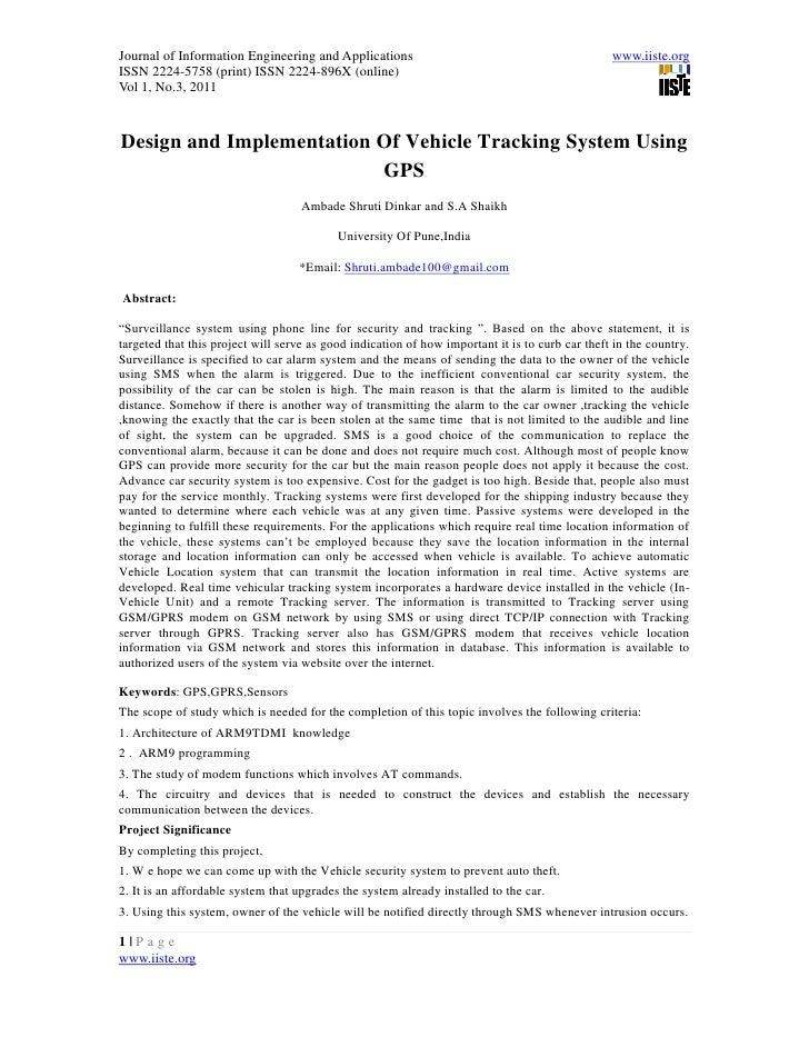 11.design and implementation of vehicle tracking system using gps