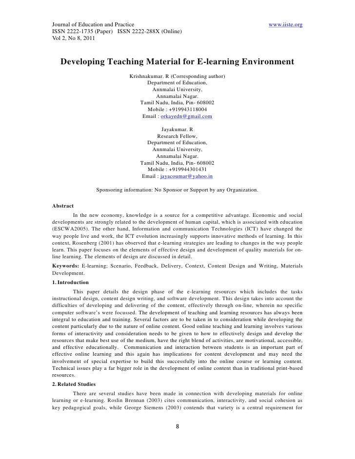 11.developing teaching material for e learning environment