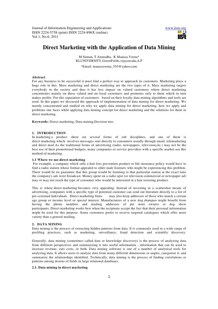 11.direct marketing with the application of data mining