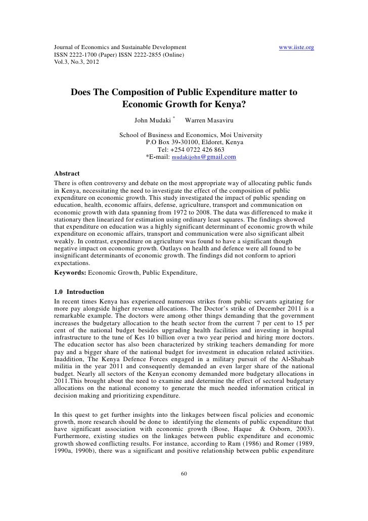 Journal of Economics and Sustainable Development                                www.iiste.orgISSN 2222-1700 (Paper) ISSN 2...