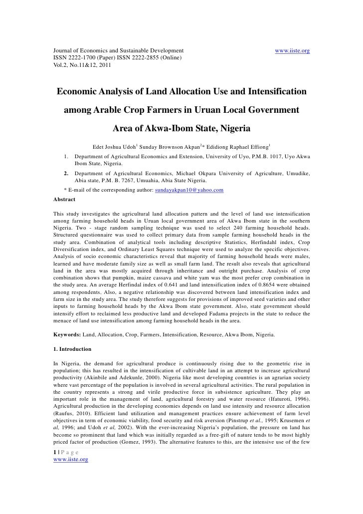 Journal of Economics and Sustainable Development                                               www.iiste.orgISSN 2222-1700...