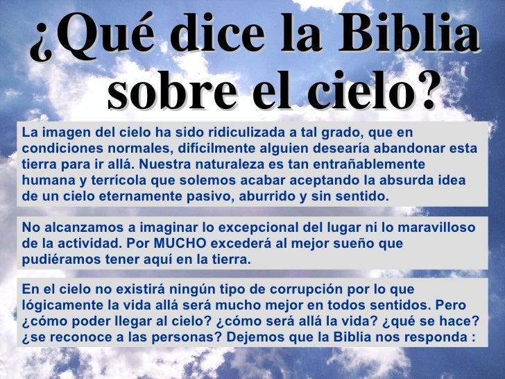 ¿Qué dice la Biblia sobre  el cielo? La imagen del cielo ha sido ridiculizada a tal grado, que en condiciones normales, di...