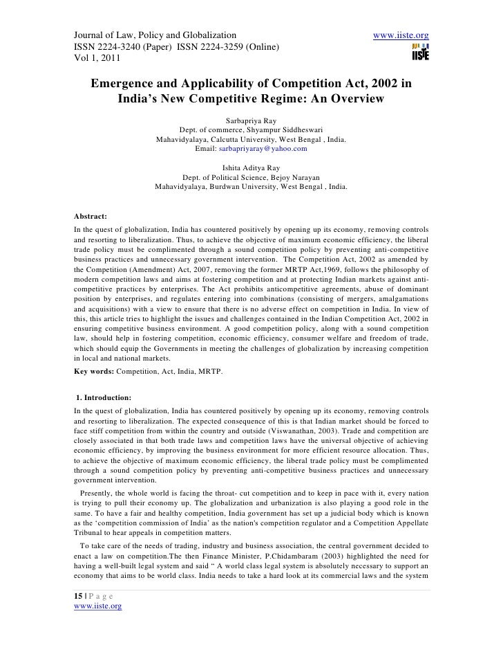 Journal of Law, Policy and Globalization                                                      www.iiste.orgISSN 2224-3240 ...