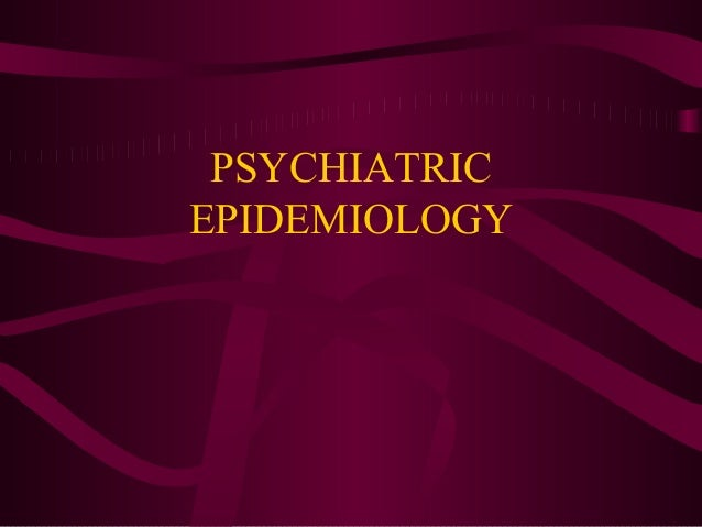 PSYCHIATRICEPIDEMIOLOGY