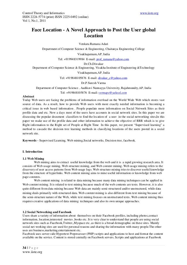 Control Theory and Informatics www.iiste.org ISSN 2224-5774 (print) ISSN 2225-0492 (online) Vol 1, No.1, 2011 34 | P a g e...
