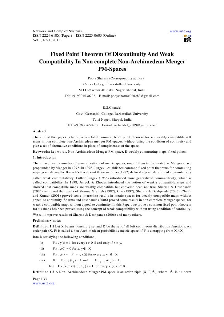 11.fixed point theorem of discontinuity and weak compatibility in non complete non archimedean menger pm-spaces