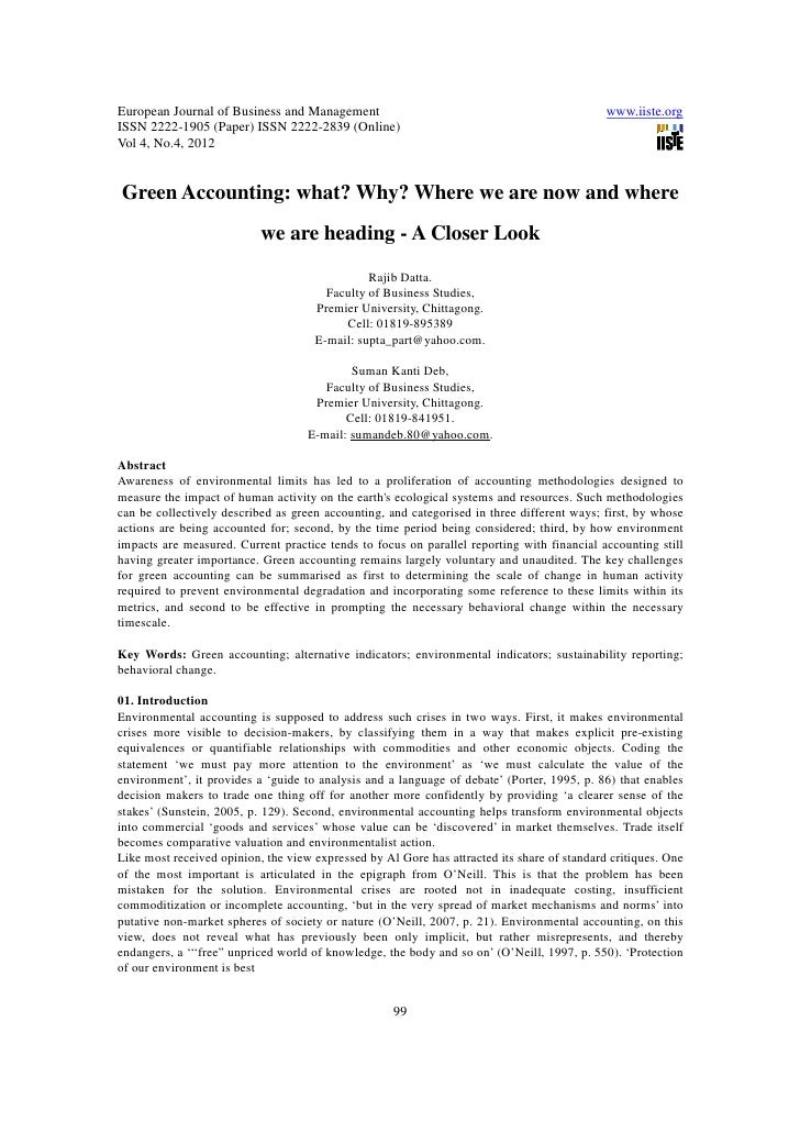 11.green accounting what why where we are now and where we are heading