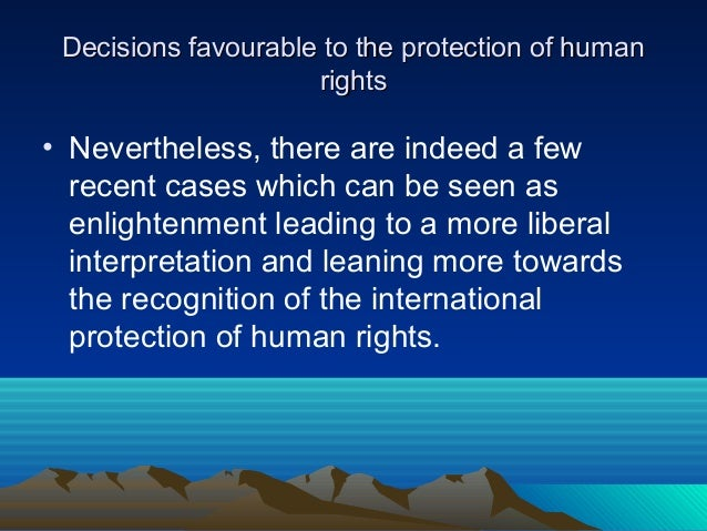 1317 Words Essay on Human Rights Protection