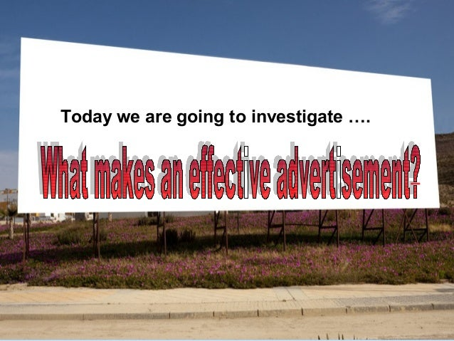 Today we are going to investigate ….