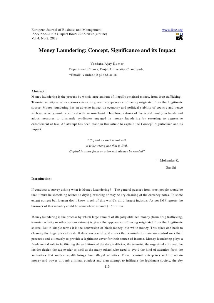 11.money laundering concept significance and its impact
