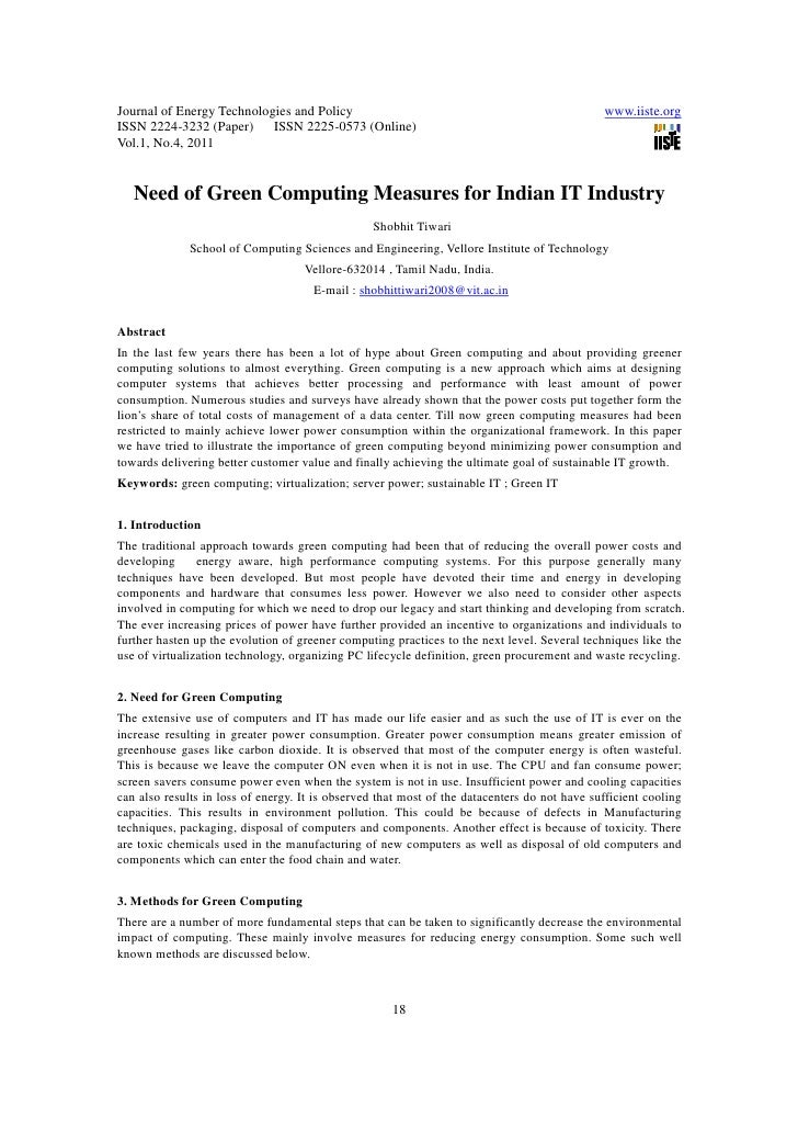 11.need of green computing measures for indian it industry