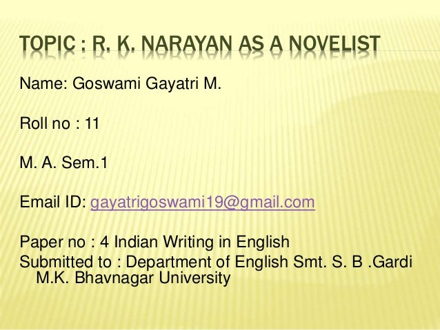 R. K. Narayan World Literature Analysis - Essay