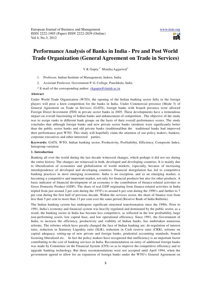 11.performance analysis of banks in india