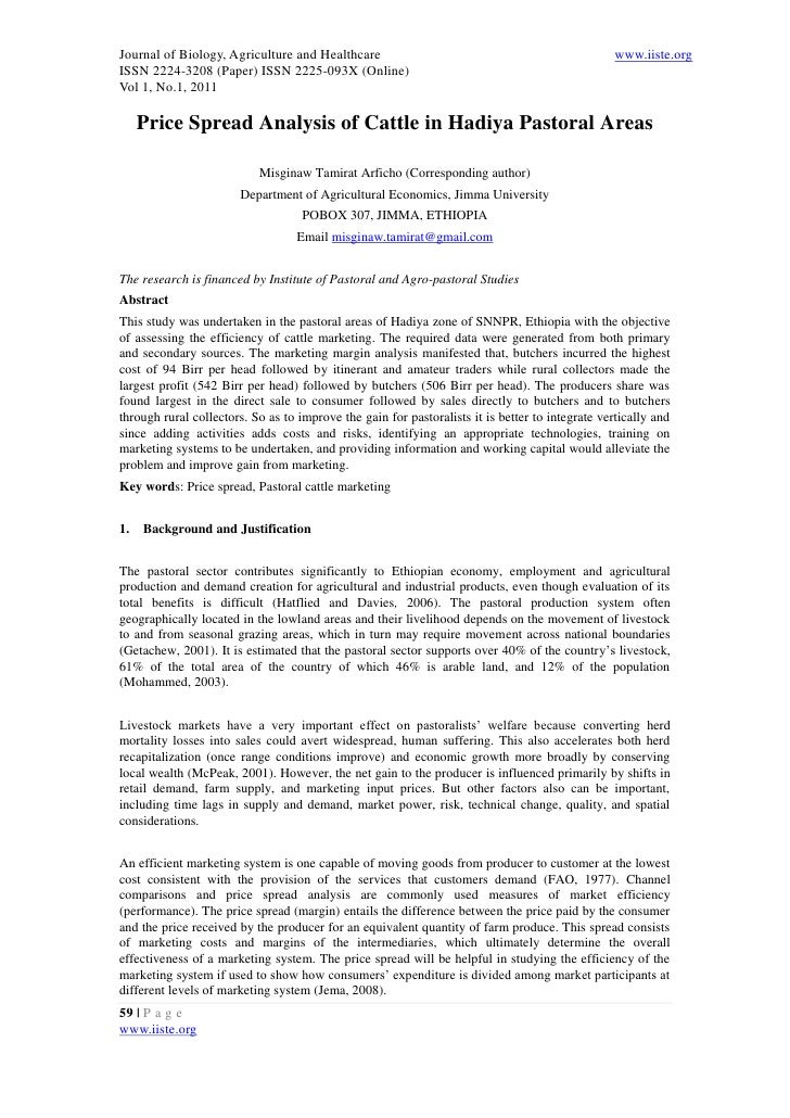 Journal of Biology, Agriculture and Healthcare                                                   www.iiste.orgISSN 2224-32...