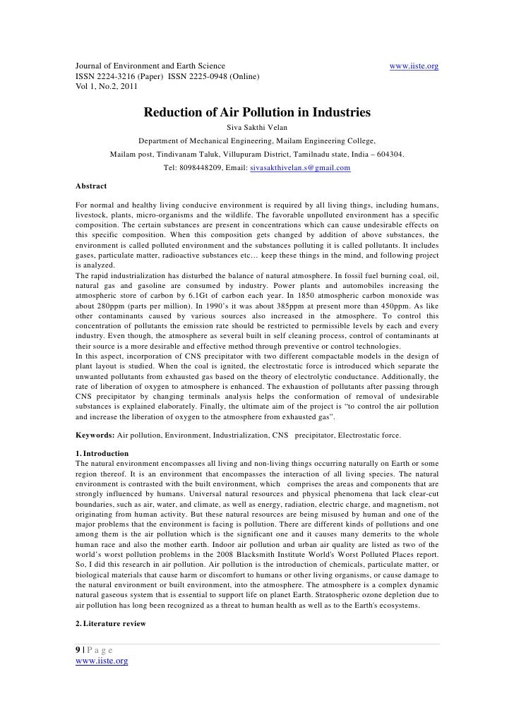 11.reduction of air pollution in industries