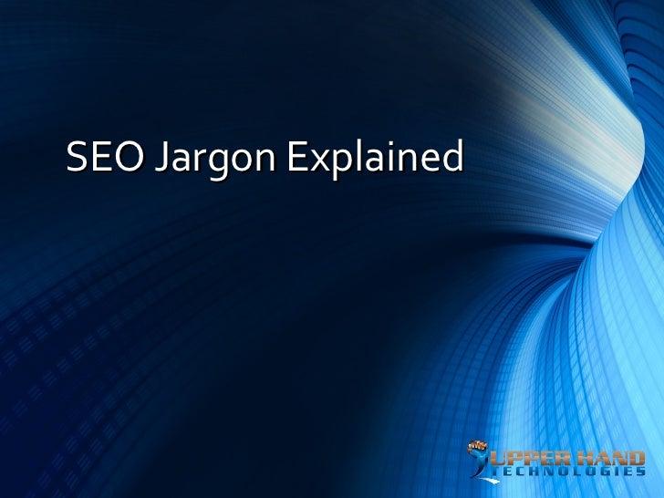 SEO Jargon Explained