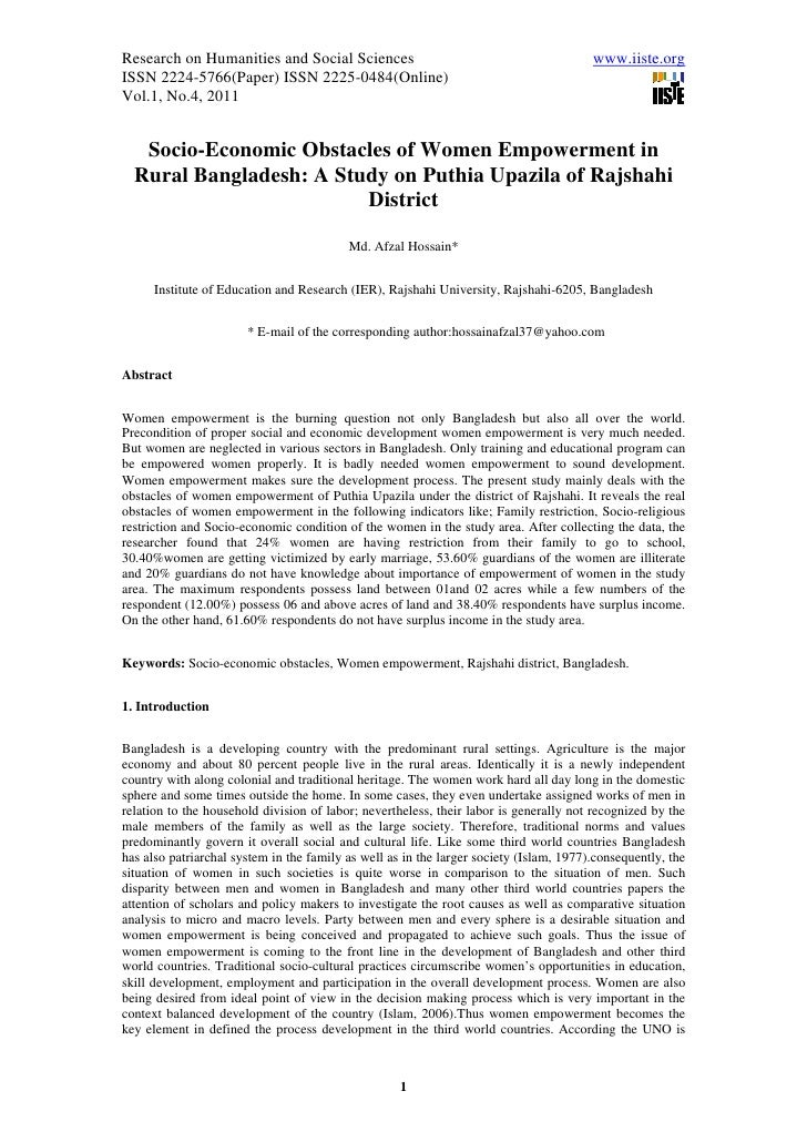 11.socio economic obstacles of women empowerment in rural bangladesh