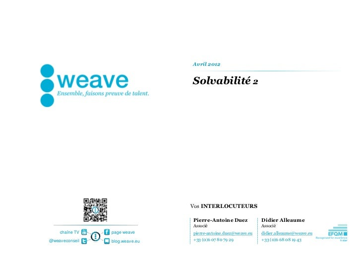 [weave] Risk and Compliance - Solvency II