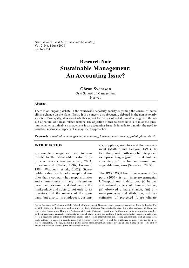 Issues in Social and Environmental AccountingVol. 2, No. 1 June 2008Pp. 145-154                                           ...