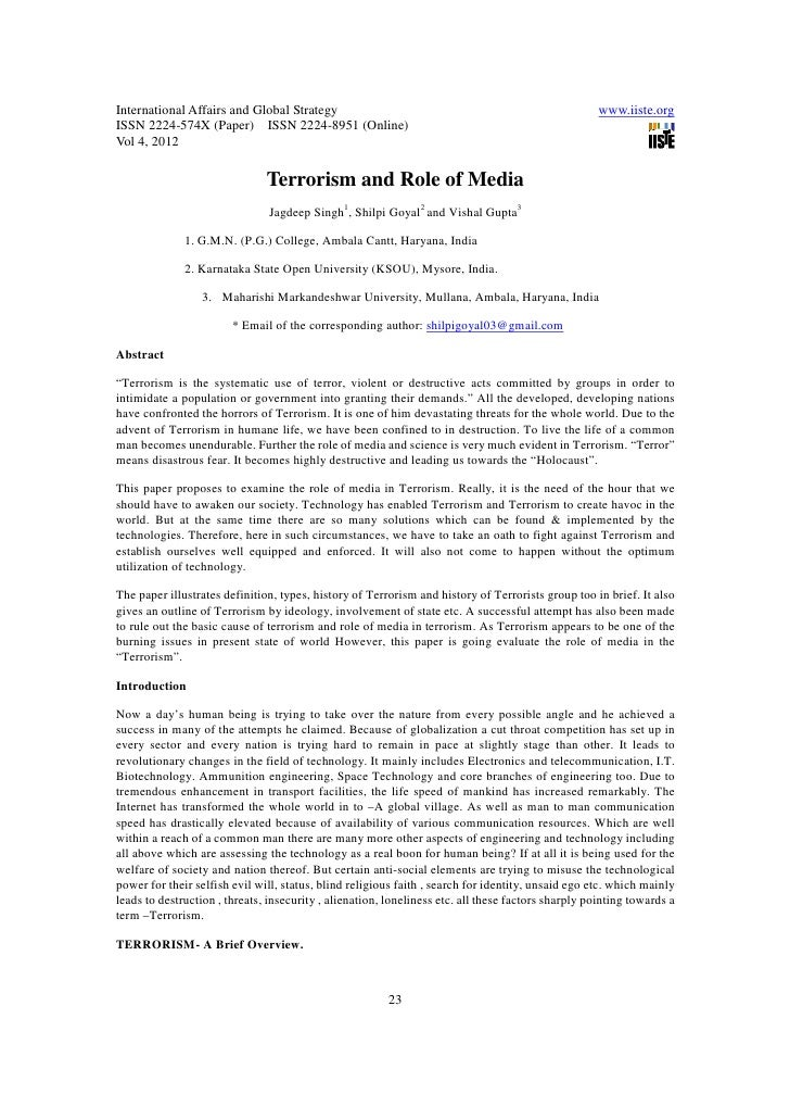 11.terrorism and role of media