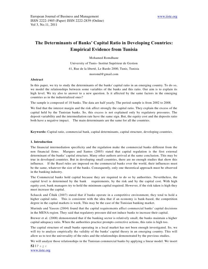 11.the determinants of banks' capital ratio in developing countries