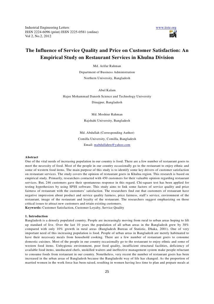11.the influence of service quality and price on customer satisfaction
