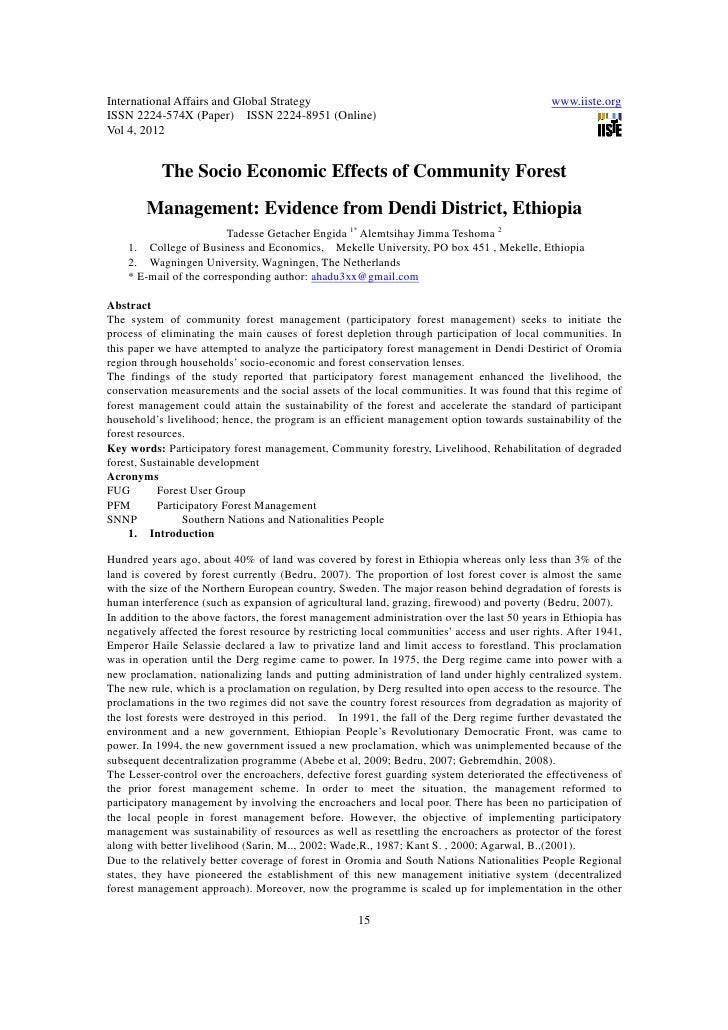 11.the socio economic effects of community forest management]