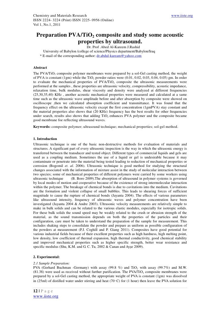 Chemistry and Materials Research                                                               www.iiste.orgISSN 2224- 322...