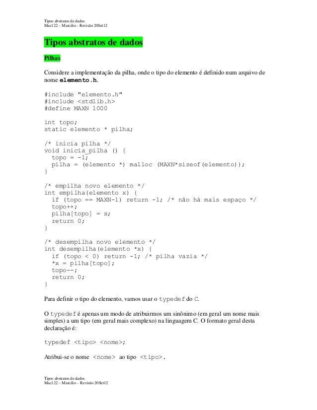 11   tipos abstratos de dados