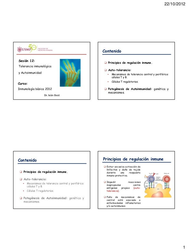 11. tolerancia inmunologica y autoinmunidad