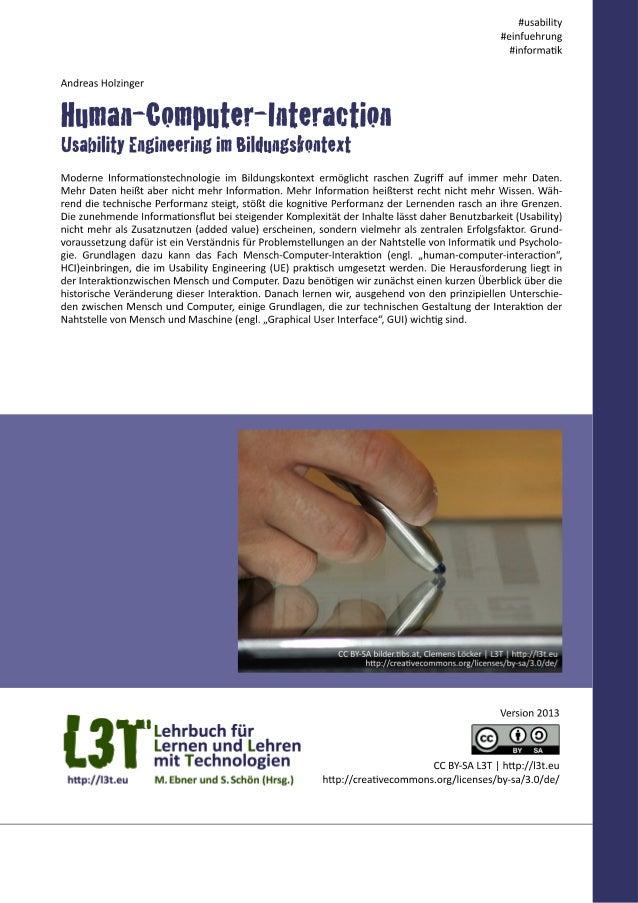 Human-Computer-Interaction - Usability Engineering im Bildungskontext