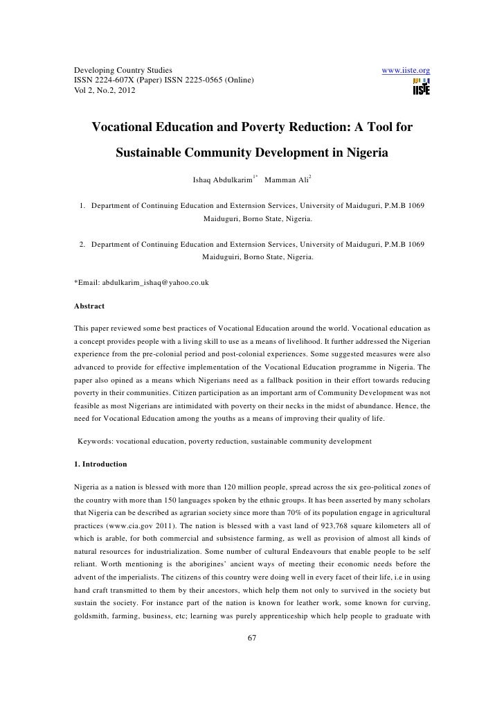 11.vocational education and poverty reduction