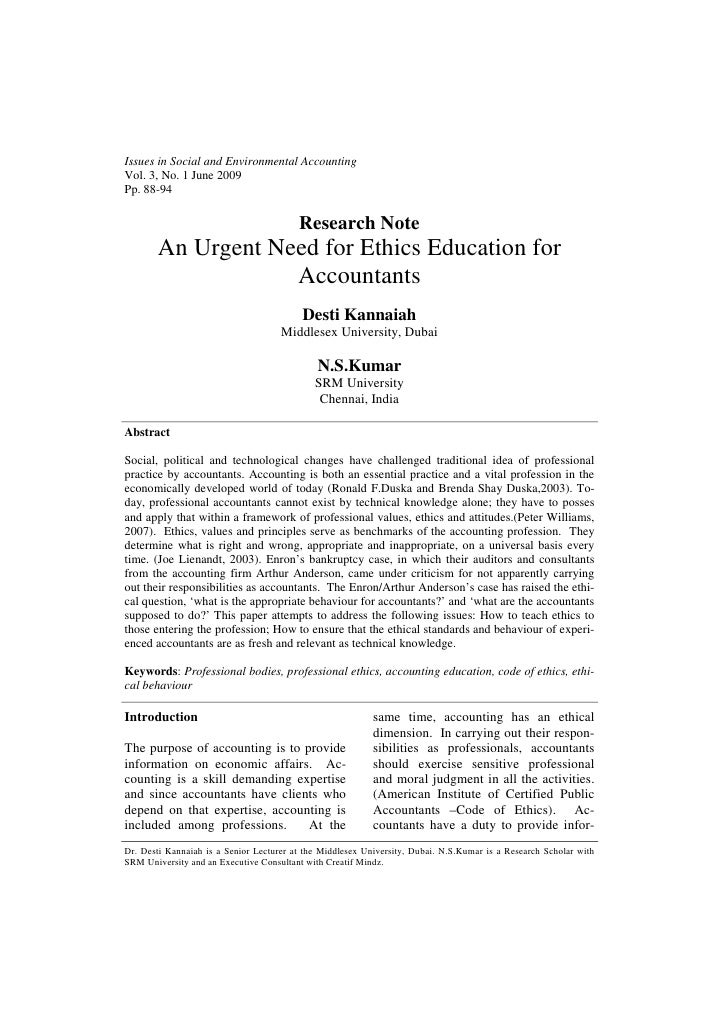 Issues in Social and Environmental AccountingVol. 3, No. 1 June 2009Pp. 88-94                                         Rese...