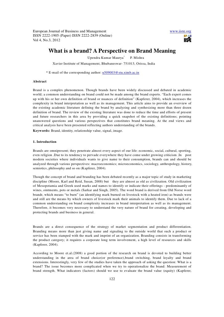 11.what is a brand a perspective on brand meaning