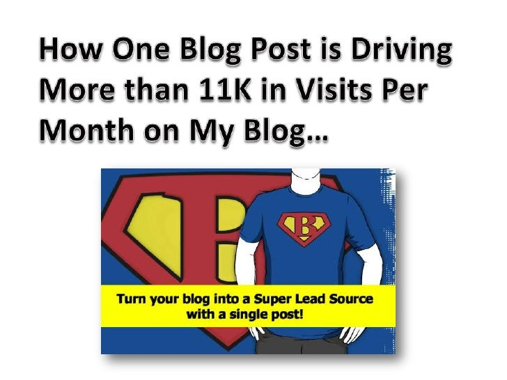 11,000 unique visits from one blog post