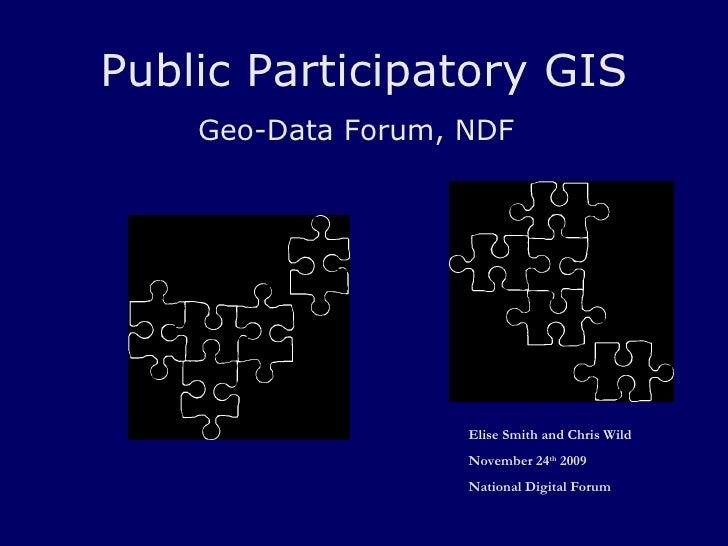 Public Participatory GIS Geo-Data Forum, NDF