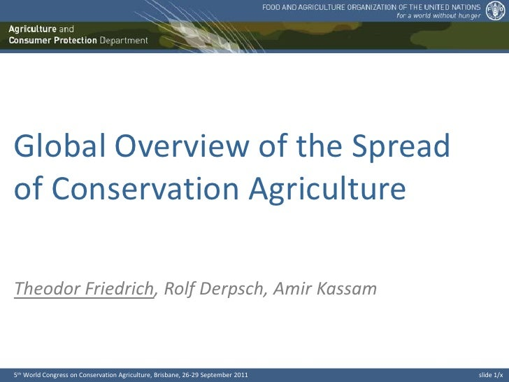 Global overview of the spread of CA. Theodor Friedrich